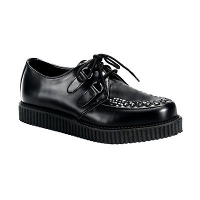 creepers leather look http://www.attitudeholland.nl/haar/schoenen/creepers/creepers-laag/creeper-602-black-leather-demonia/