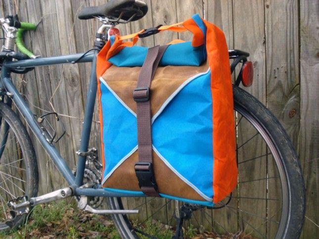 Teal + Orange Panniers   15 Bike Baskets and Panniers