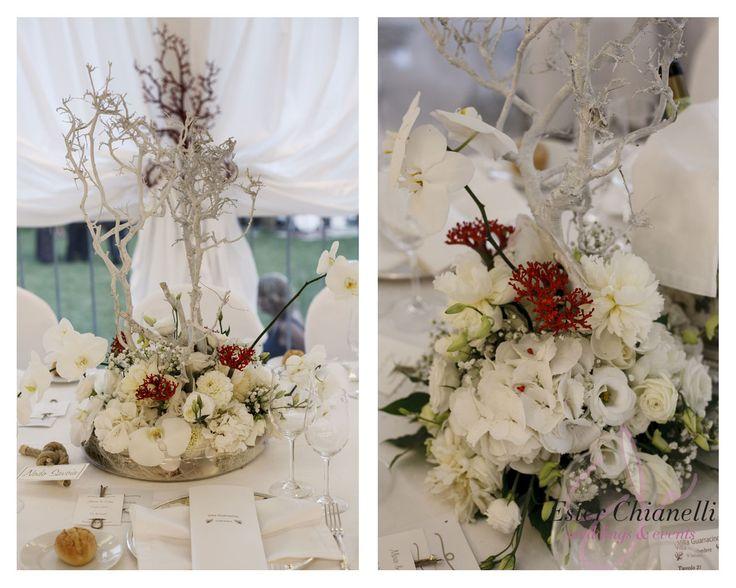 Centrpieces Marin&Coral | Ester Chianelli - Weddings&Events | www.esterchianelli.com