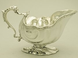 'Sterling Silver Gravy Boat'