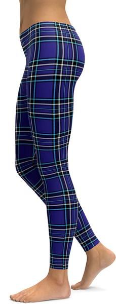 Purple Tartan Leggings