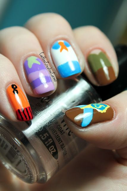 Scooby Doo nails from Caitlin's Creative Corner!