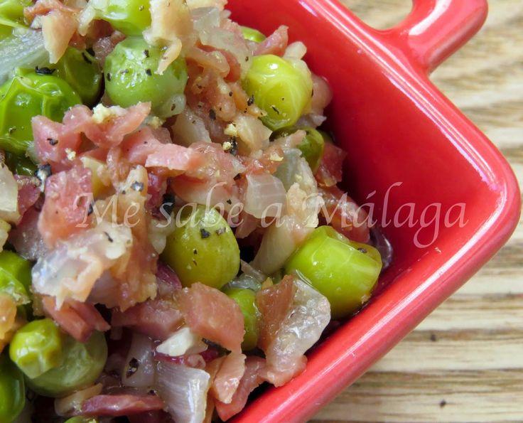 Me sabe a Málaga: Chícharos con jamón