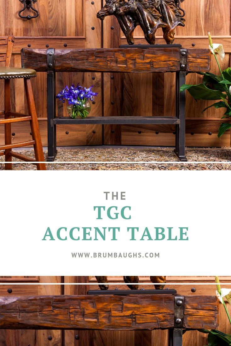 Rustic Wood Accent Table Console