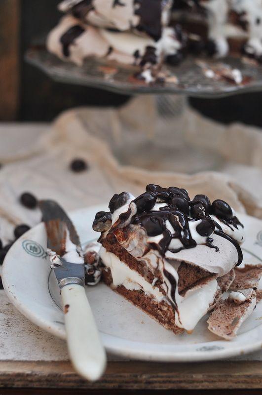 ... chocolate pavlova ...