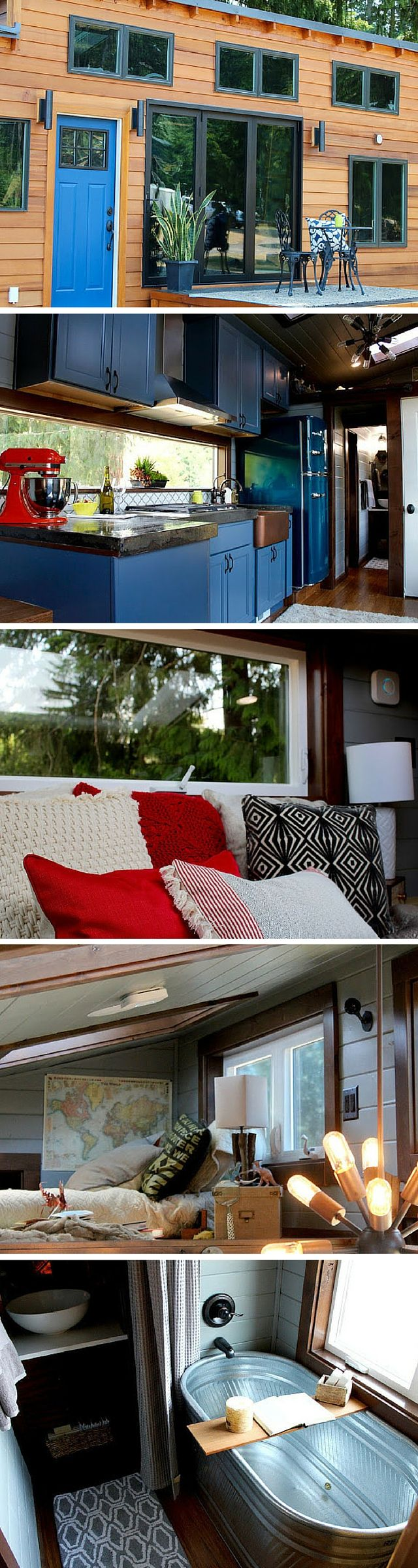 Bedroom tiny home plans on wheels furthermore romeo 500 sq ft log - The Luxurious Tiny House From Tiny Heirloom Of Portland Oregon