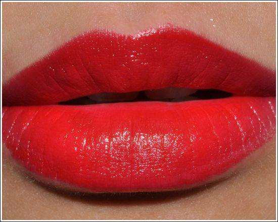 Lancome Red Stiletto lipstick. Its my new favorite, and I'll wear it everywhere. You may soon forget the natural color of my lips.