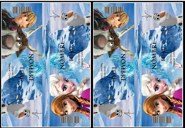 Etiqueta golosina Frozen