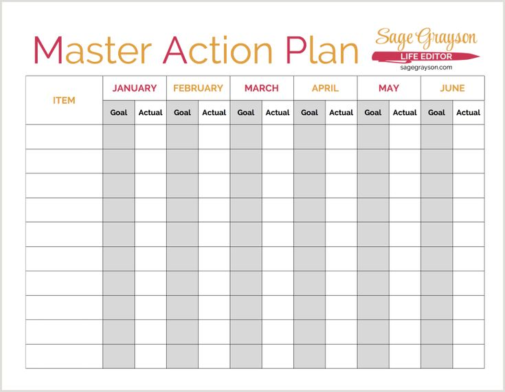 102 best Free Printables images on Pinterest Free printables - free action plans
