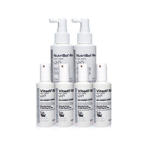Scalp med men' 4 month re-growth kit is formulated with the only FDA approved hair-growth ingredient and multi-patented technology. Scalp...