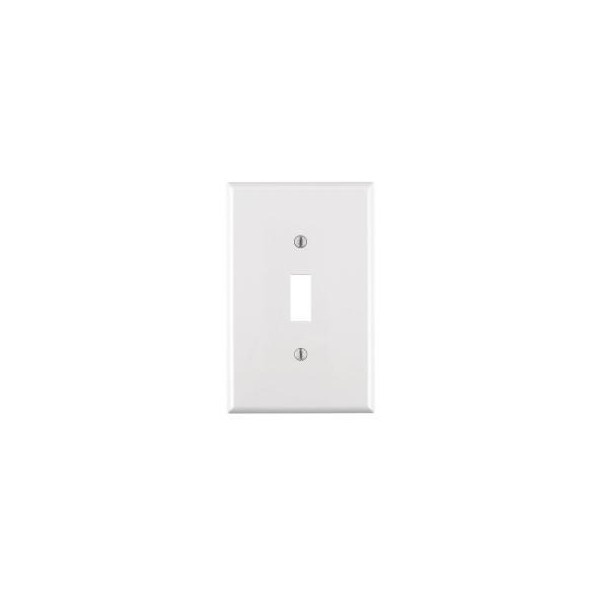 Leviton 1 Gang White Midway Toggle Wall Plate.  0.47$ from Home Depot (online price).  98 cents ea. in store.