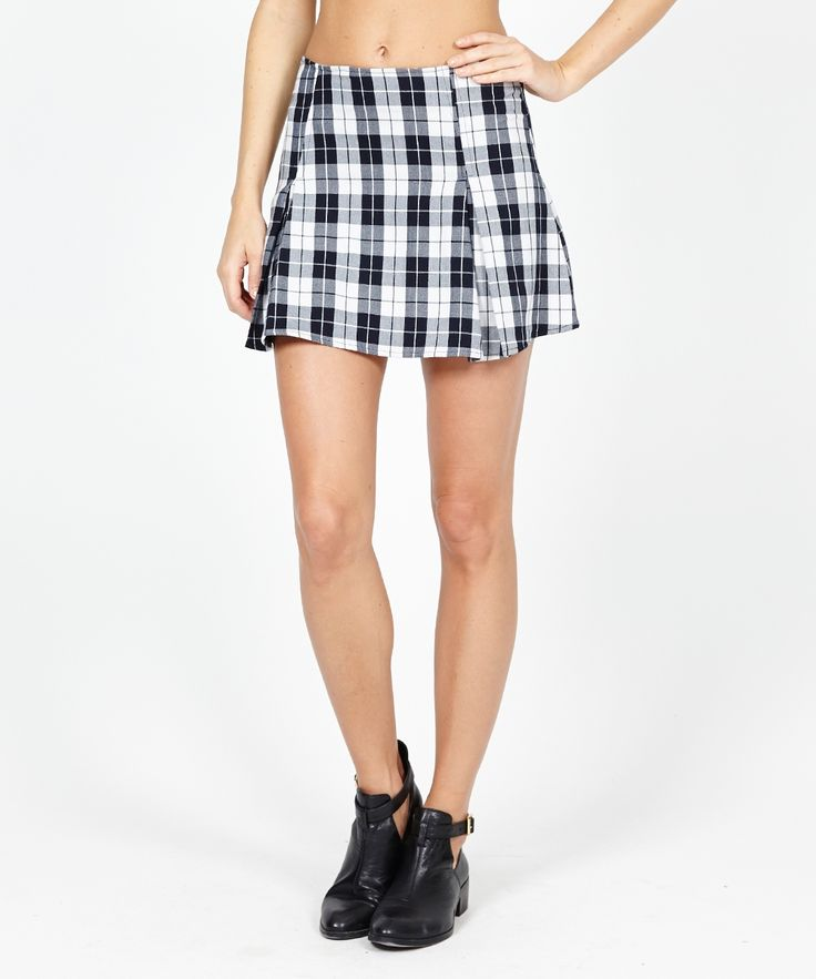 BOX PLEAT CHECK SKIRT | Skirts | Clothing | Shop Womens | General Pants Online
