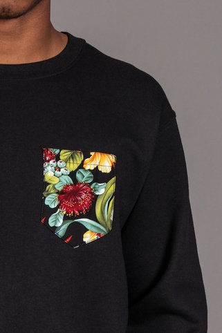 I'm really interested in embellishing some tees like this. Here is one idea, a crew-neck sweatshirt!