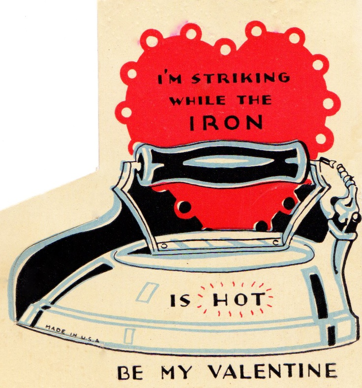 Vintage Iron Valentine  Two Crazy Crafters