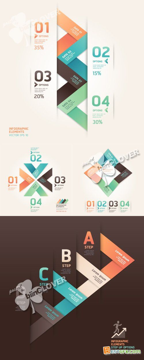 Modern origami infographics and web design 0370