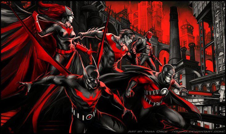 Yama Orce,Batwoman,Бэтвумен, Кэти Кейн,DC Comics,DC Universe, Вселенная ДиСи,фэндомы,Batman Beyond,Вселенная Бэтмена Будущего,Nightwing,Найтвинг, Дик Грейсон,Bat Family,Бэт семья,Red Hood,Красный Колпак, Джейсон Тодд,Red Robin,Красный Робин, Тим Дрейк,Batman,Бэтмен, Темный рыцарь, Брюс
