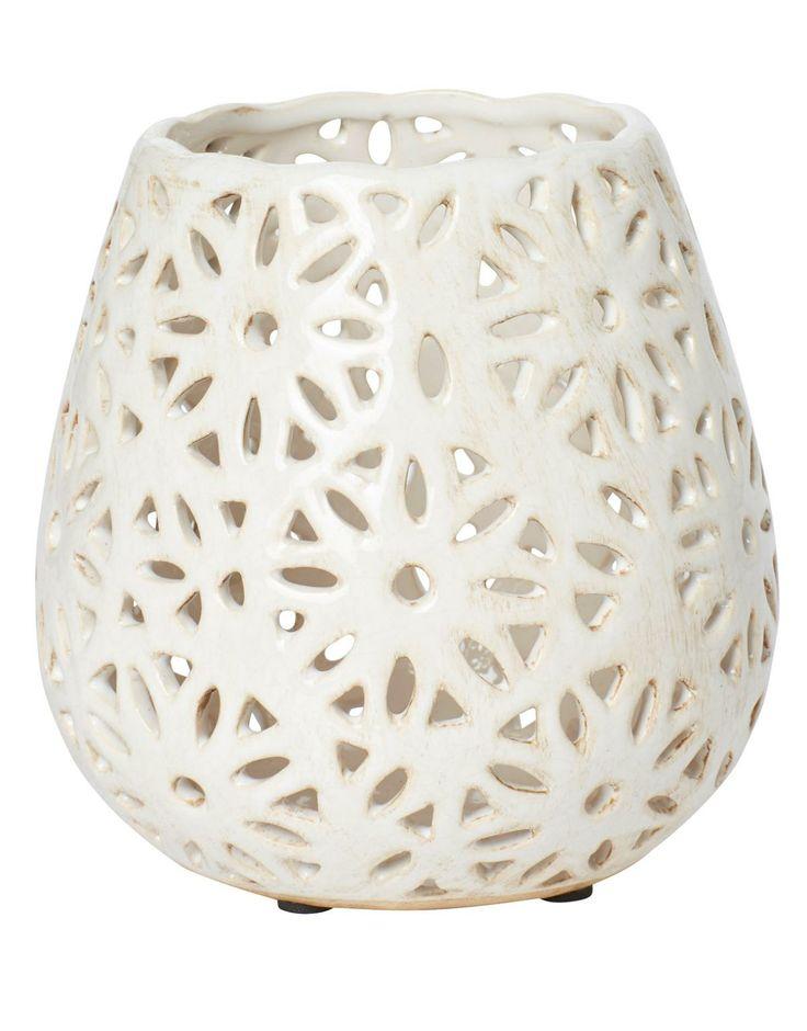 GLAZE DROP lantern white | T-light standing | Candles and Lanterns | Interior | INDISKA Shop Online