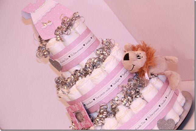 Bleiekake DIY - diaper cake girl, visittgave
