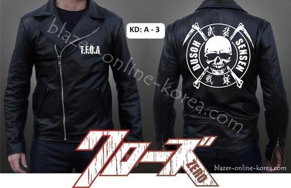 Jaket kulit CROWS ZERO hideto bando [A-3]