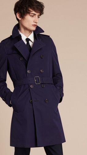 The Chelsea – Cotton Gabardine Trench Coat Blueberry