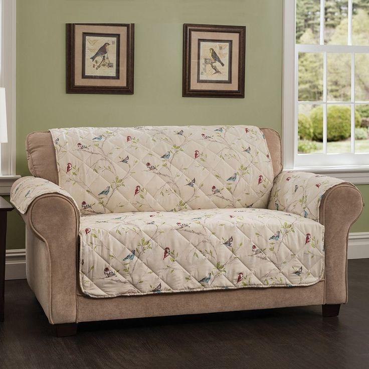 Innovative Textile Solutions Songbird Loveseat Slipcover, Multicolor