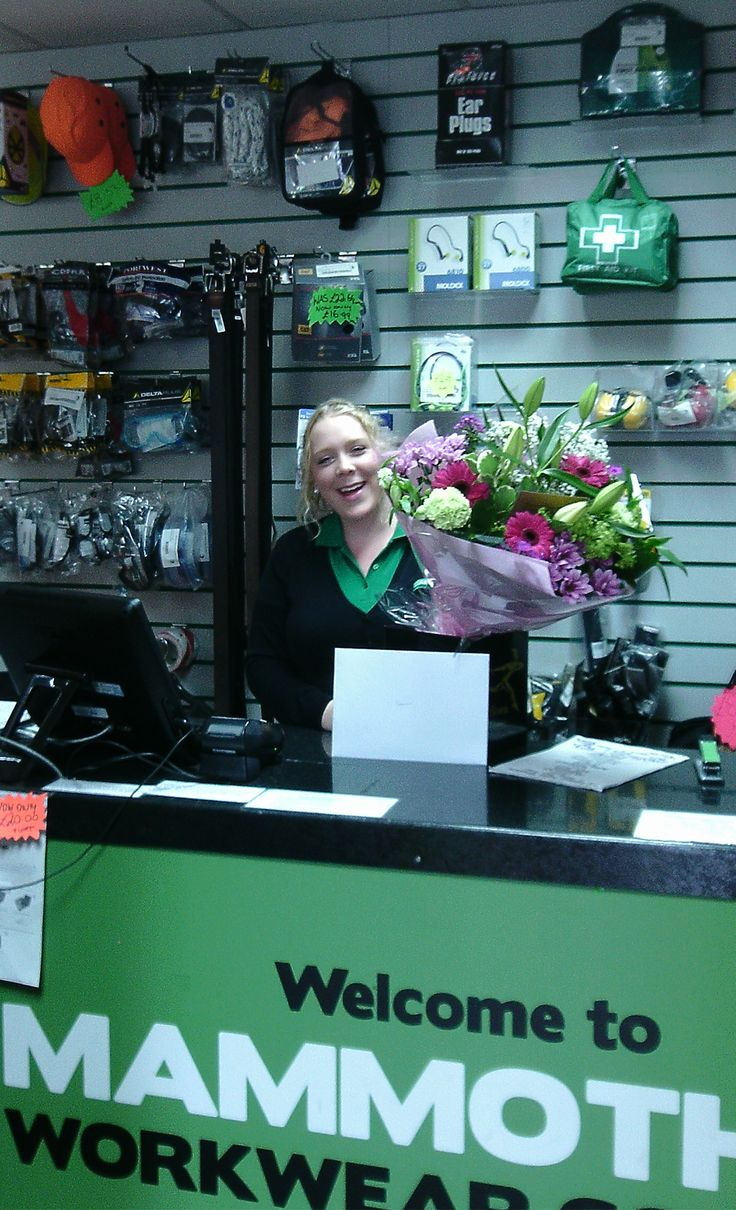 Today is our Sammy's last day before she starts her maternity leave. We'd all like to thank her, for her hard work running our busy shop for the last 3 years, and wish her all the best for the forthcoming happy event!