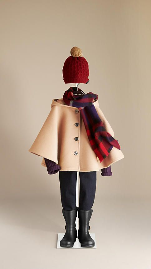 Check Lined Wool Cape | Burberry