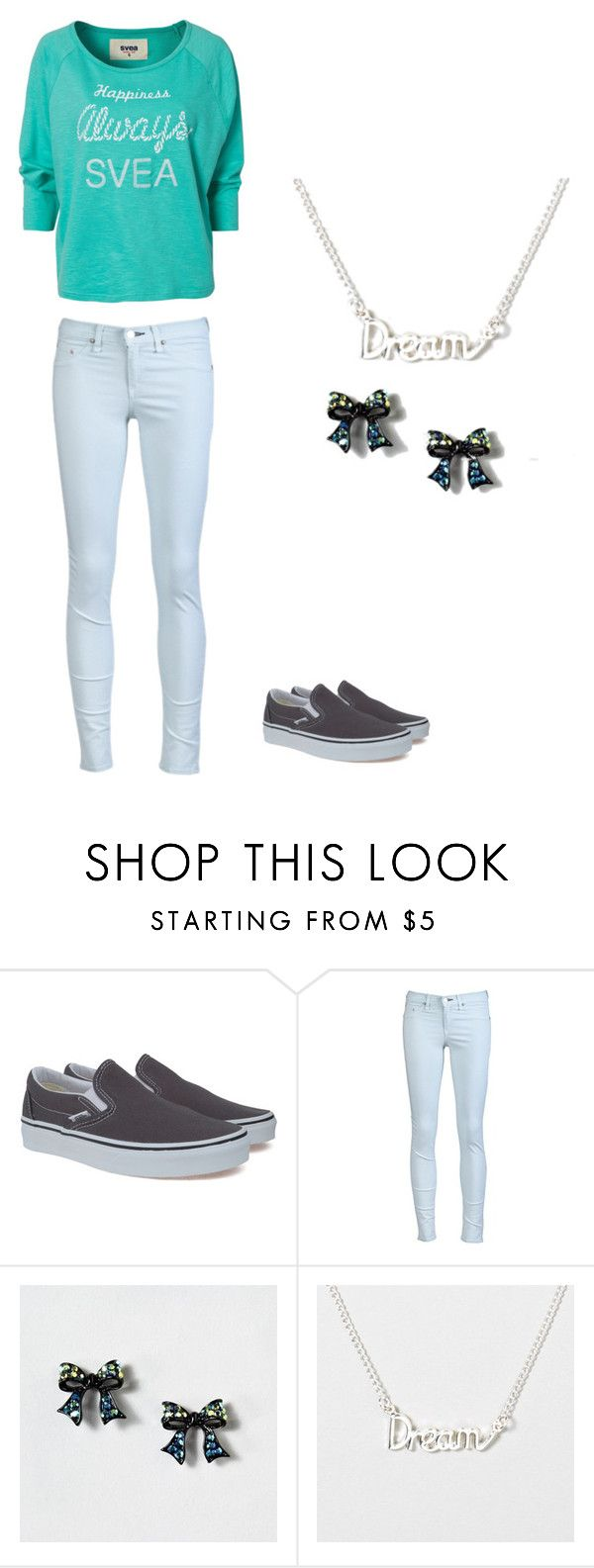 """""""Blue"""" by lexi-s ❤ liked on Polyvore featuring Vans, rag & bone and Svea"""