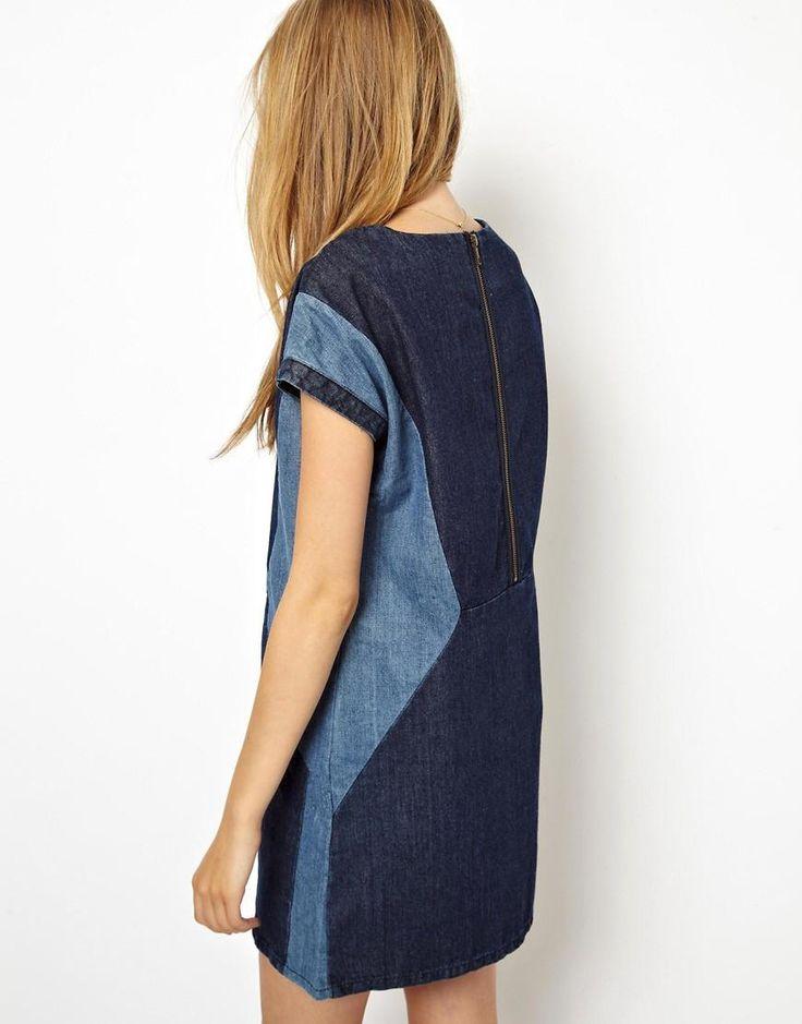 ASOS   Джинсовое платье в стиле колор блок ASOS на ASOS