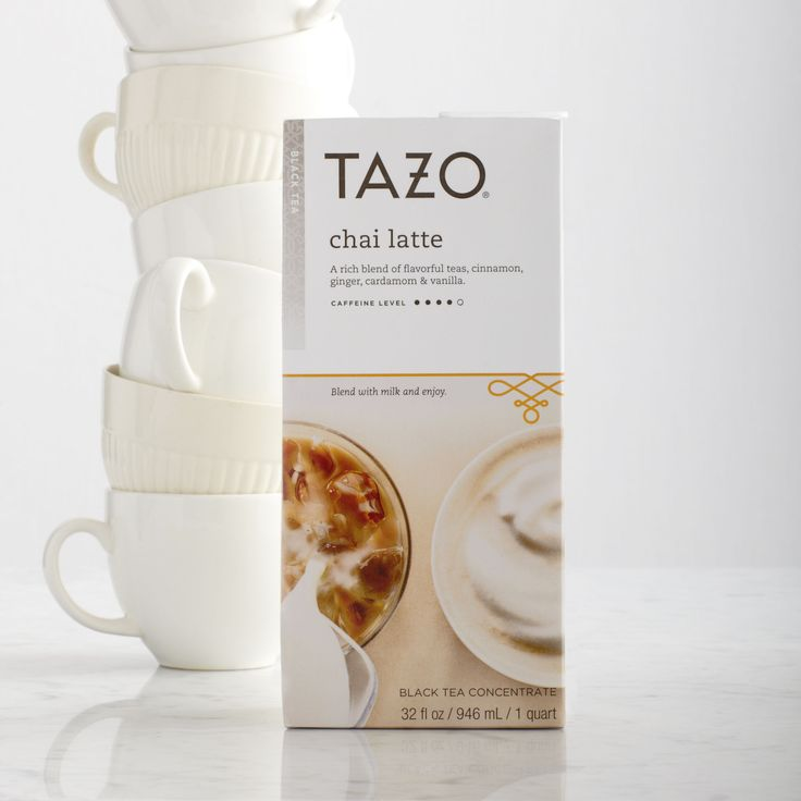 Tazo® Chai Tea Latte Concentrate  A rich blend of flavourful teas, cinnamon, ginger, cardamom and vanilla. Tasting Notes  Creamy, sweet spice. Enjoy this with:  A cinnamon scone and a dreamy look in your eyes. $4.95 32 fl oz http://websites-buy.com/starbucks-coffee-store