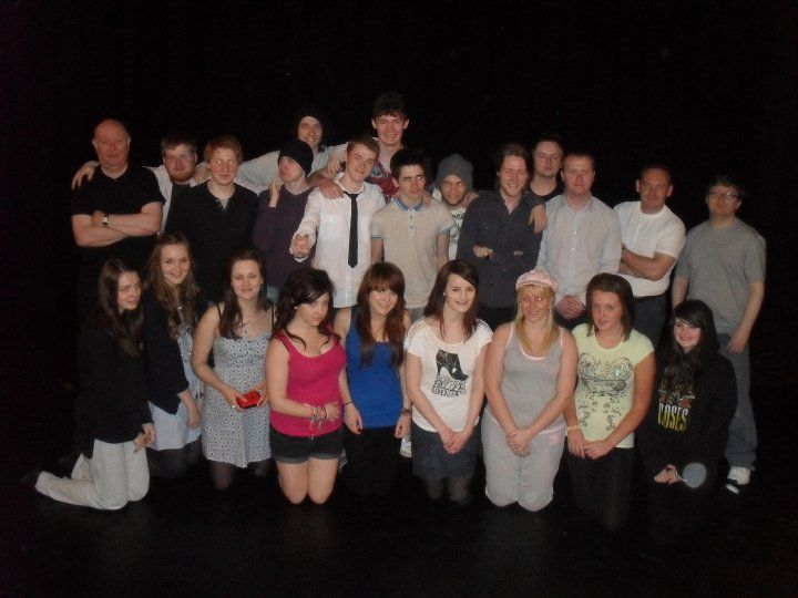 The cast of Romeo and Juliet at the Unity Theatre, which we helped to produce.