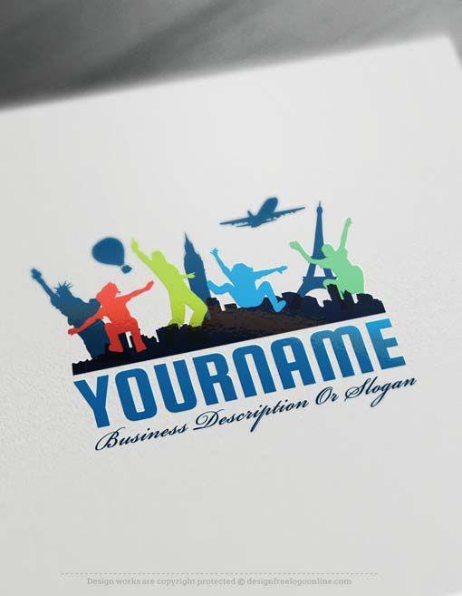 Free Logo maker – Travel Company Logo designs