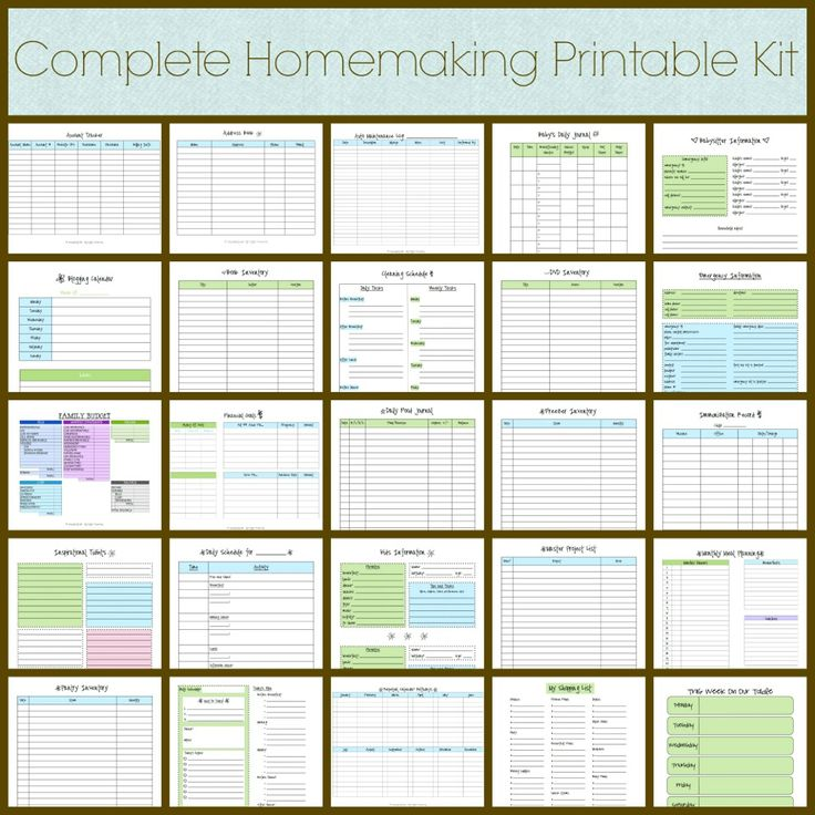Complete Homemaking Printable Kit