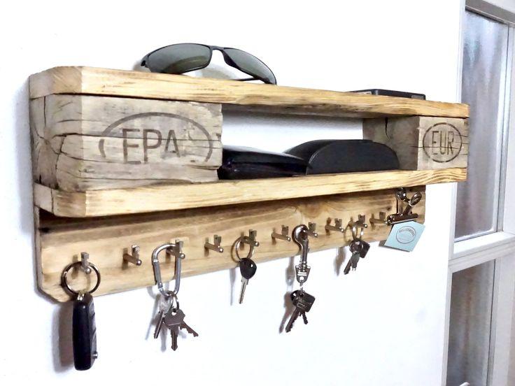 Stylisches Wandbord mit Schlüsselbrett (10 Haken)