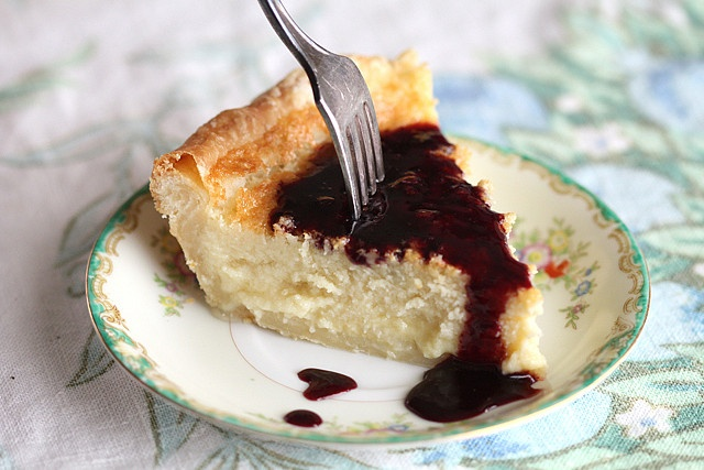 Buttermilk Pie with Blackberry Sauce | Pie, cobbler, tarts, scones, b ...