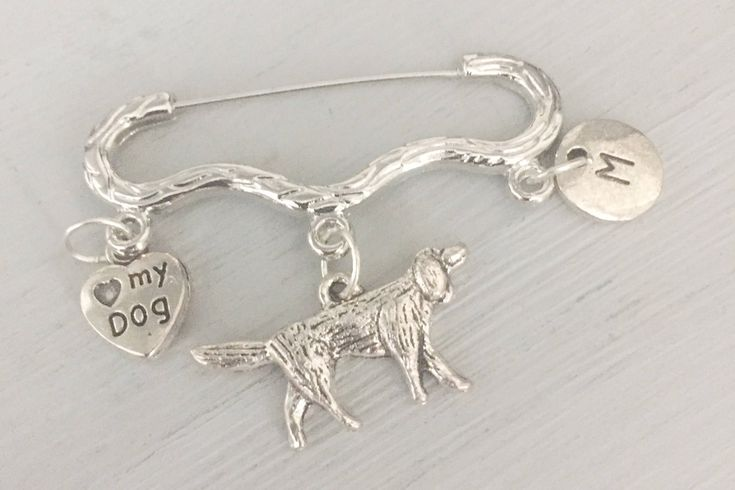 Dog Lovers Brooch, Setter, Gift for Dog Lover, Retriever brooch, Gun dog, Dog Bowl, Pawprint, Heart, Mothers Day Gift, Gift Idea, UK https://www.etsy.com/listing/498090804/dog-lovers-brooch-setter-gift-for-dog?utm_campaign=crowdfire&utm_content=crowdfire&utm_medium=social&utm_source=pinterest