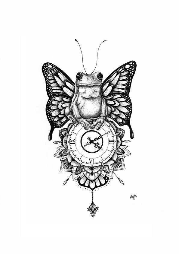 Frog clock. Animal series https://www.behance.net/eivanafer51df