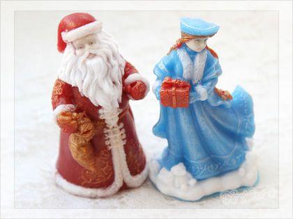 Мыло Дед мороз и снегурочка 3д - какой же новый год без деда мороза и снегурочки?) Мыло объемное 3д.