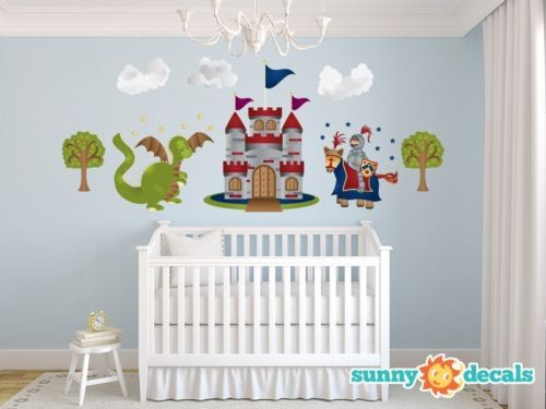 50%OFF RoomMates Repositionable Childrens Wall Stickers   Knights And Dragon Part 48