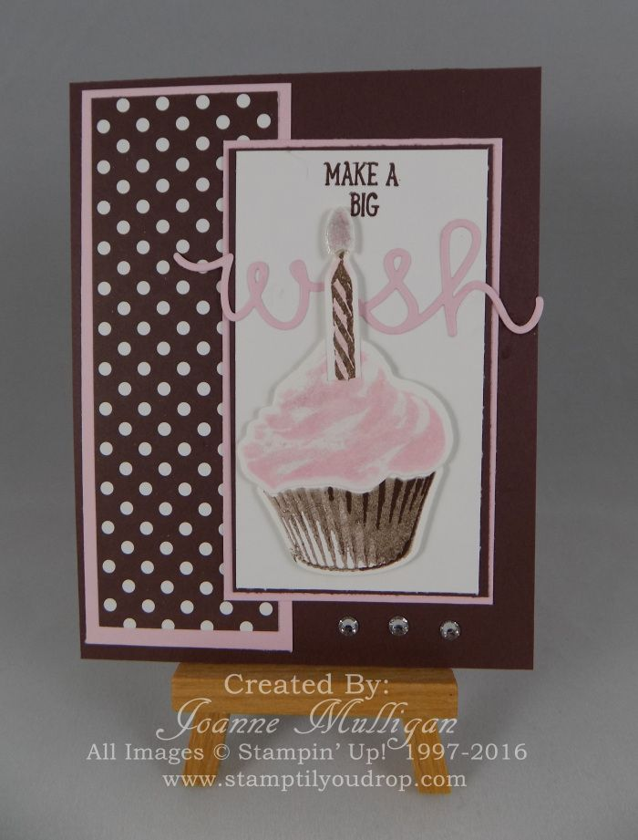 Using Sweet Cupcake set from the Stampin' Up! 2016-2017 Annual Catalog - Created by Joanne Mulligan, Independent Stampin' Up! Demonstrator