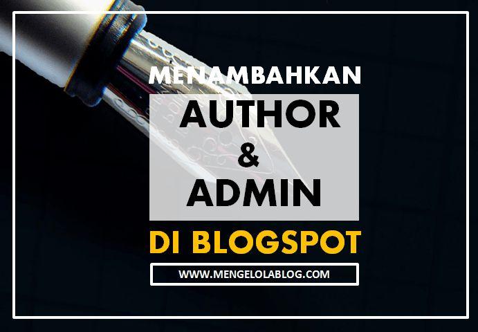 menambahkan author dan admin di blog