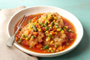 Tortitas de arroz con jamón, queso y vegetales. You can use leftover rice