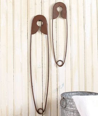Laundry Room Wall Decor Oversized Clothes Pins. Just $9 for the set from Lakeside Collection ~ A set of three of these sells in Ballard Designs Catalog for $35!