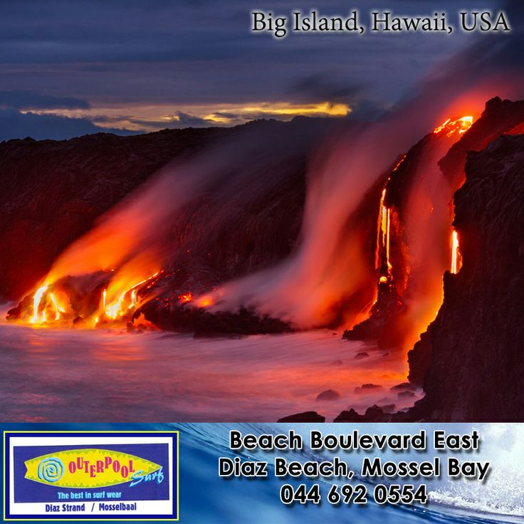 Big Island, Hawaii, USA. At 800,000 years old, Hawaiʻi is a baby in geologic terms. It's here you'll find the Hawaiian Islands' highest and largest volcanic mountains– and the world's most active volcano, spewing molten lava since 1983. #places #earth #Hawaii