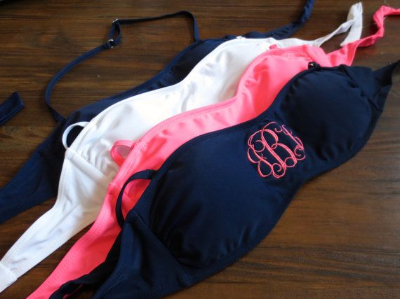 Monogram Swim Bikini Bathing Suit Bandeau Top