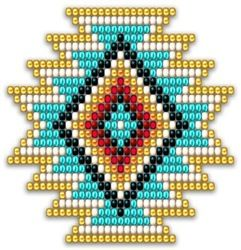 Native Style Rainbow Sunburst