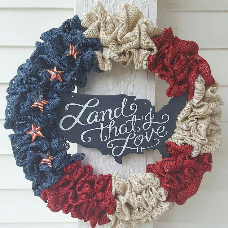 Love this patriotic wreath!