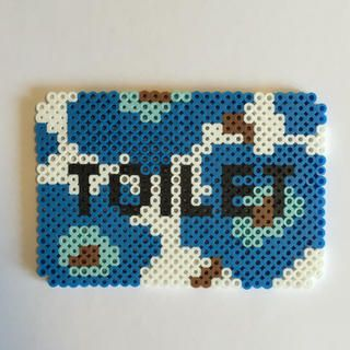 Toilet sign - Marimekko perler beads by Pink's shop
