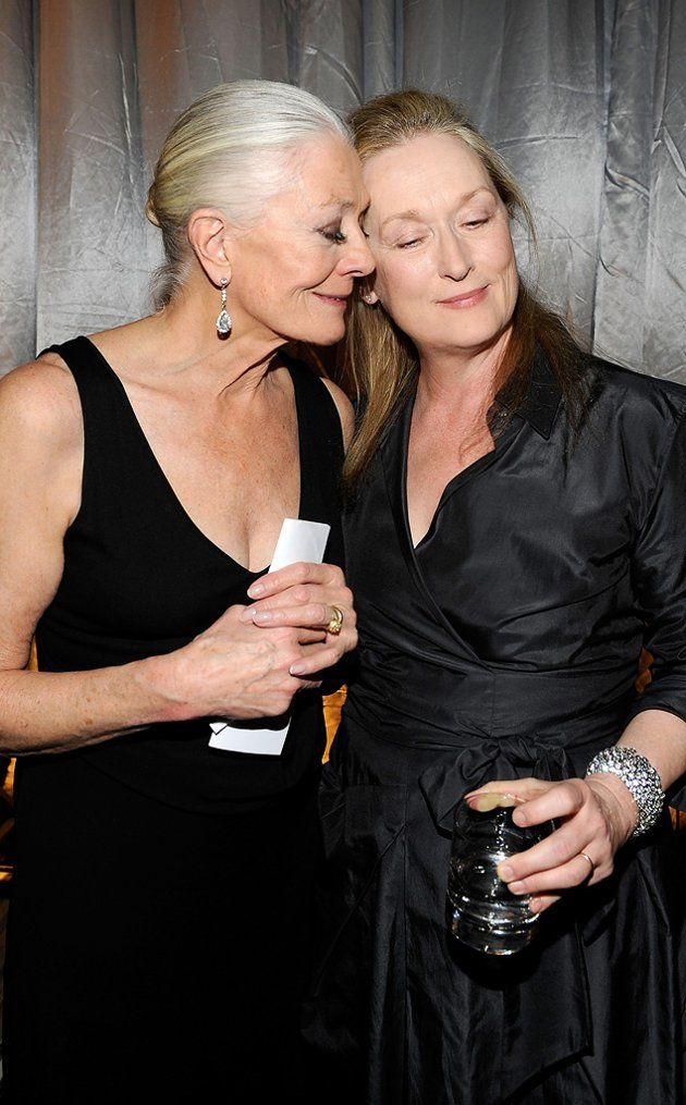 Vanessa Redgrave and Meryl Streep attend the amfAR New York Gala co-sponsored by M.A.C. Cosmetics to Kick Off Fall 2010 Fashion Week at Cipriani 42nd Street on February 10, 2010 in New York, New York.