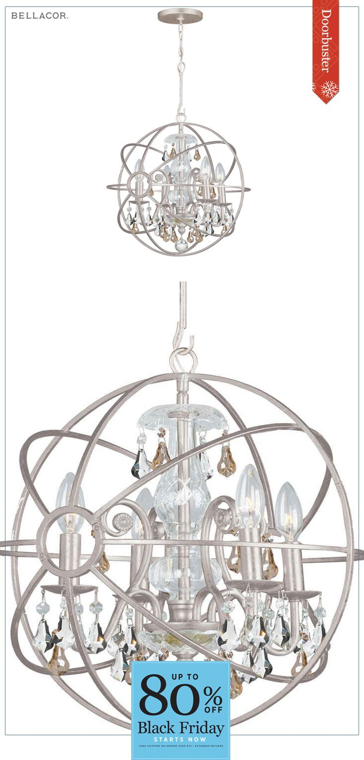 103 best black friday cyber monday 2016 images on pinterest 30 crystorama lighting group solaris four light olde silver chandelier arubaitofo Image collections